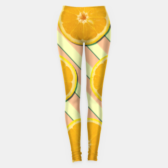 Oranges and stripes Leggings thumbnail image
