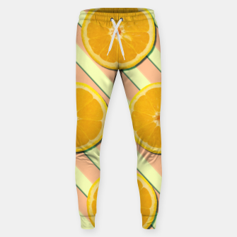 Oranges and stripes Sweatpants thumbnail image