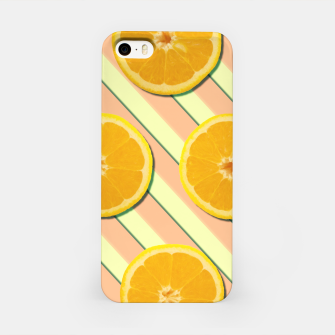 Oranges and stripes iPhone Case thumbnail image