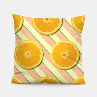 Oranges and stripes Pillow thumbnail image