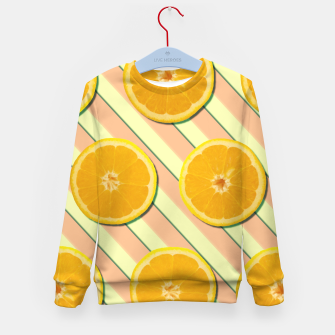 Oranges and stripes Kid's sweater thumbnail image