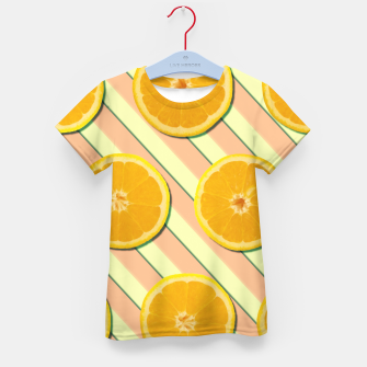 Miniaturka Oranges and stripes Kid's t-shirt, Live Heroes