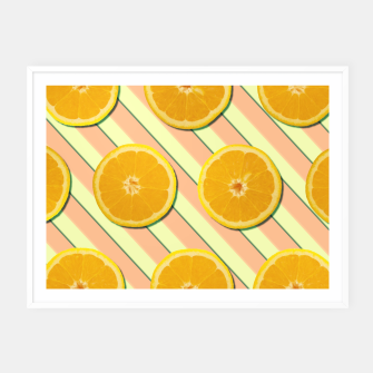 Miniaturka Oranges and stripes Framed poster, Live Heroes