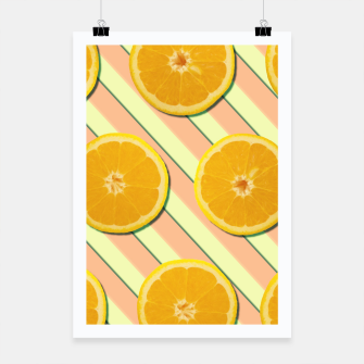 Miniaturka Oranges and stripes Poster, Live Heroes