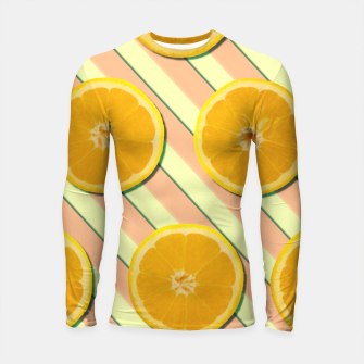 Miniaturka Oranges and stripes Longsleeve rashguard , Live Heroes