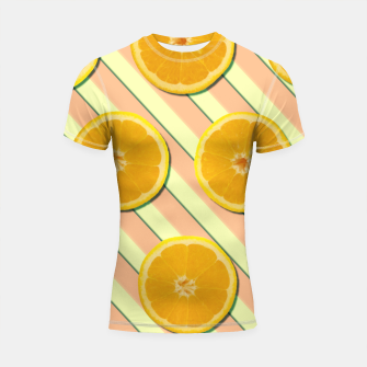 Miniaturka Oranges and stripes Shortsleeve rashguard, Live Heroes