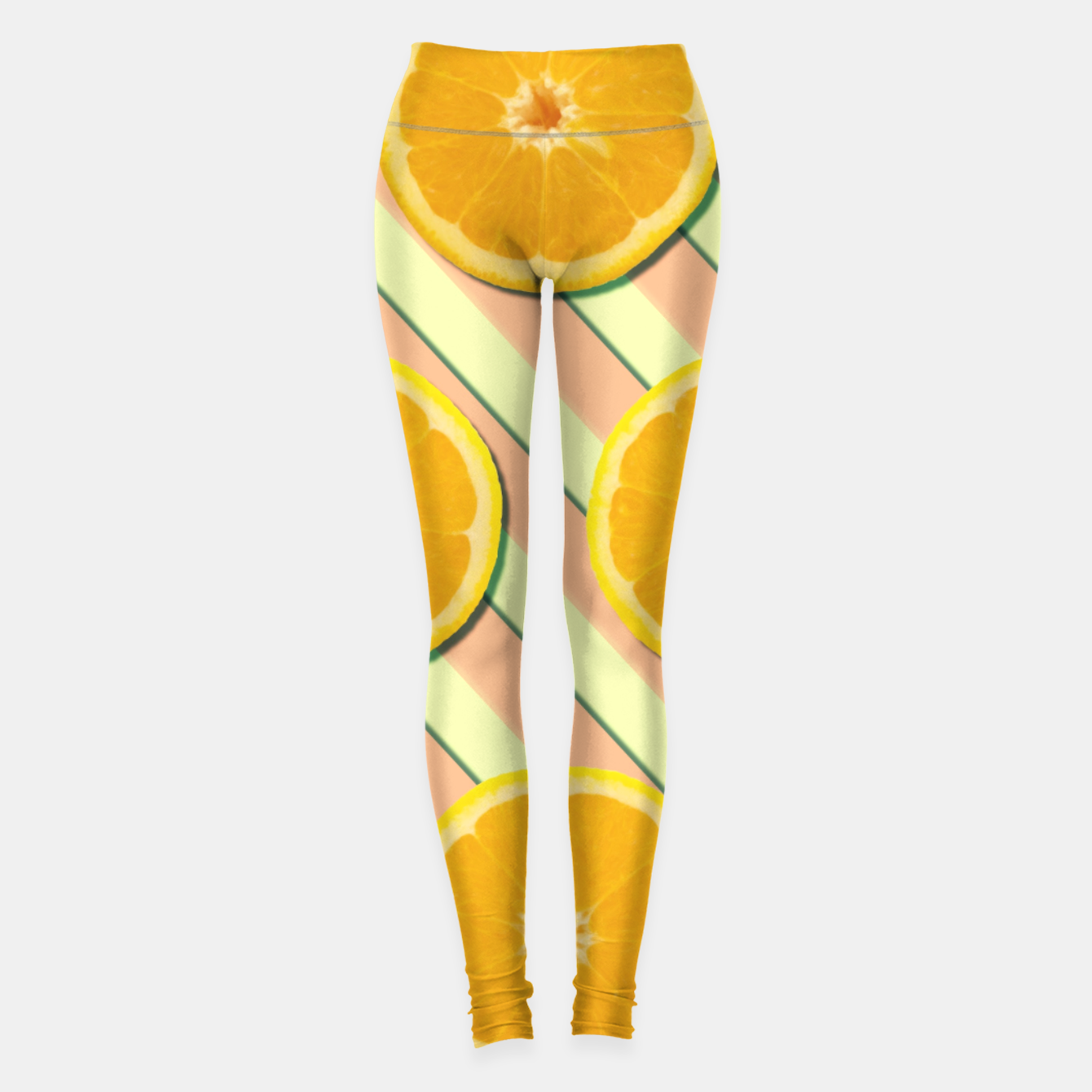 Image of Oranges and stripes Leggings - Live Heroes