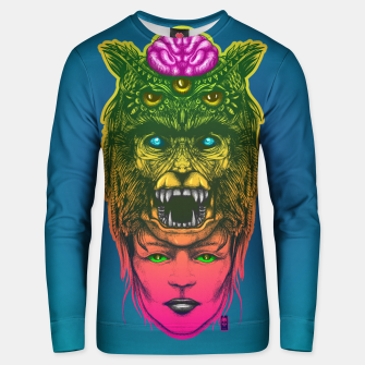 Thumbnail image of Wolf Girl Gradient Unisex sweater, Live Heroes