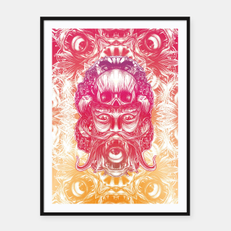 Thumbnail image of Oracle Gradient Framed poster, Live Heroes