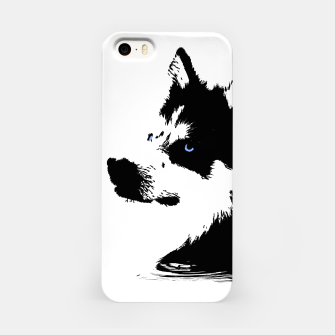 Miniatur Husky Head with blue Eyes iPhone-Hülle, Live Heroes