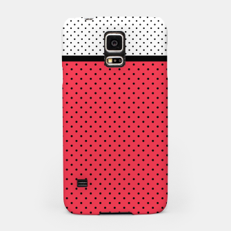 Thumbnail image of Red black white polka dots circles retro vintage design pattern Samsung Case, Live Heroes