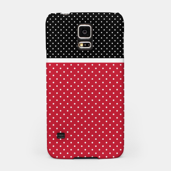 Miniatur Red black white polka dots circles retro vintage design pattern Samsung Case, Live Heroes