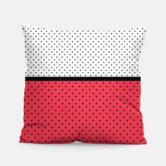 Thumbnail image of Red black white polka dots circles retro vintage design pattern Pillow, Live Heroes