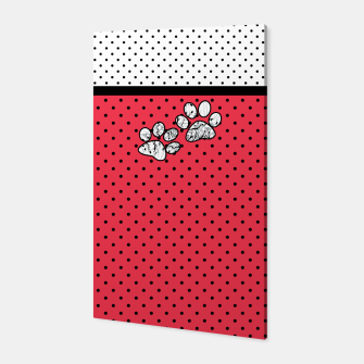 Thumbnail image of Red black white polka dots circles retro vintage design pattern Canvas, Live Heroes