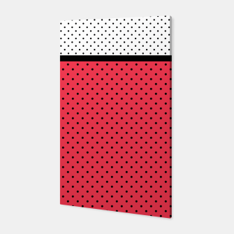 Miniatur Red black white polka dots circles retro vintage design pattern Canvas, Live Heroes