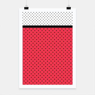 Miniatur Red black white polka dots circles retro vintage design pattern Poster, Live Heroes