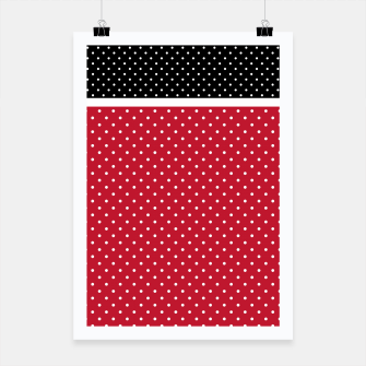Thumbnail image of Red black white polka dots circles retro vintage design pattern Poster, Live Heroes