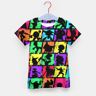 Thumbnail image of Super Smash Bros Kid's t-shirt, Live Heroes
