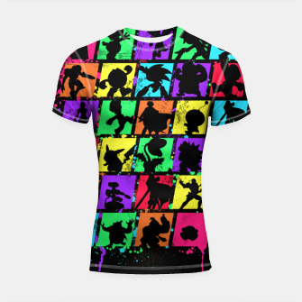 Thumbnail image of Super Smash Bros Shortsleeve rashguard, Live Heroes