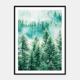 Thumbnail image of Forest and Fog Framed poster, Live Heroes