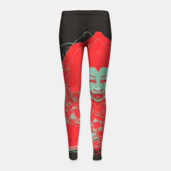 Miniatur Gueisha Mixed  Girl's leggings, Live Heroes