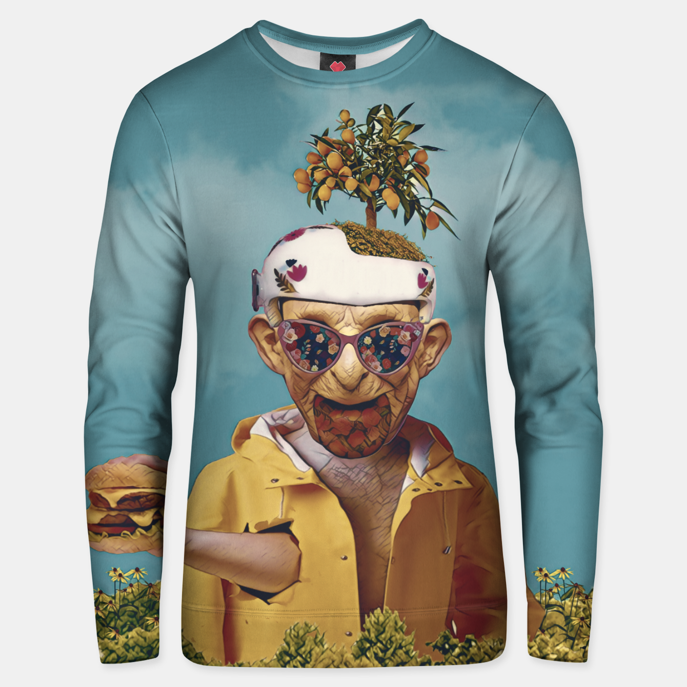Image of Burger attack Unisex sweater - Live Heroes
