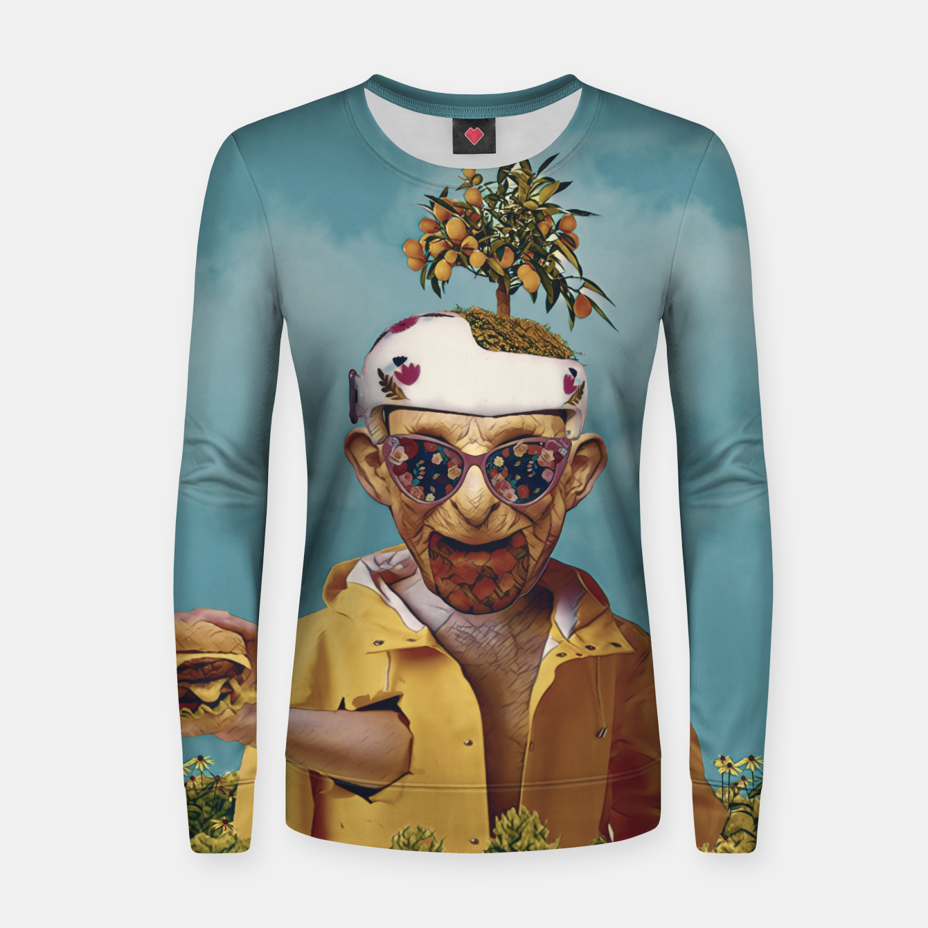 Image of Burger attack Women sweater - Live Heroes