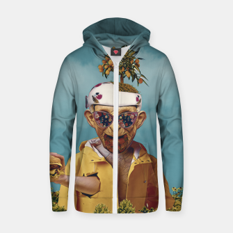 Burger attack Zip up hoodie thumbnail image