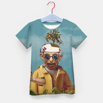 Thumbnail image of Burger attack Kid's t-shirt, Live Heroes