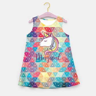 Unicorn  Girl's summer dress thumbnail image