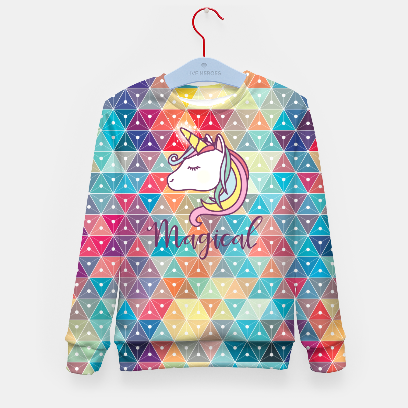Image of Unicorn  Kid's sweater - Live Heroes
