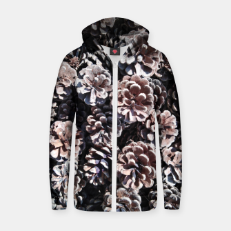 Thumbnail image of Pine cones Zip up hoodie, Live Heroes
