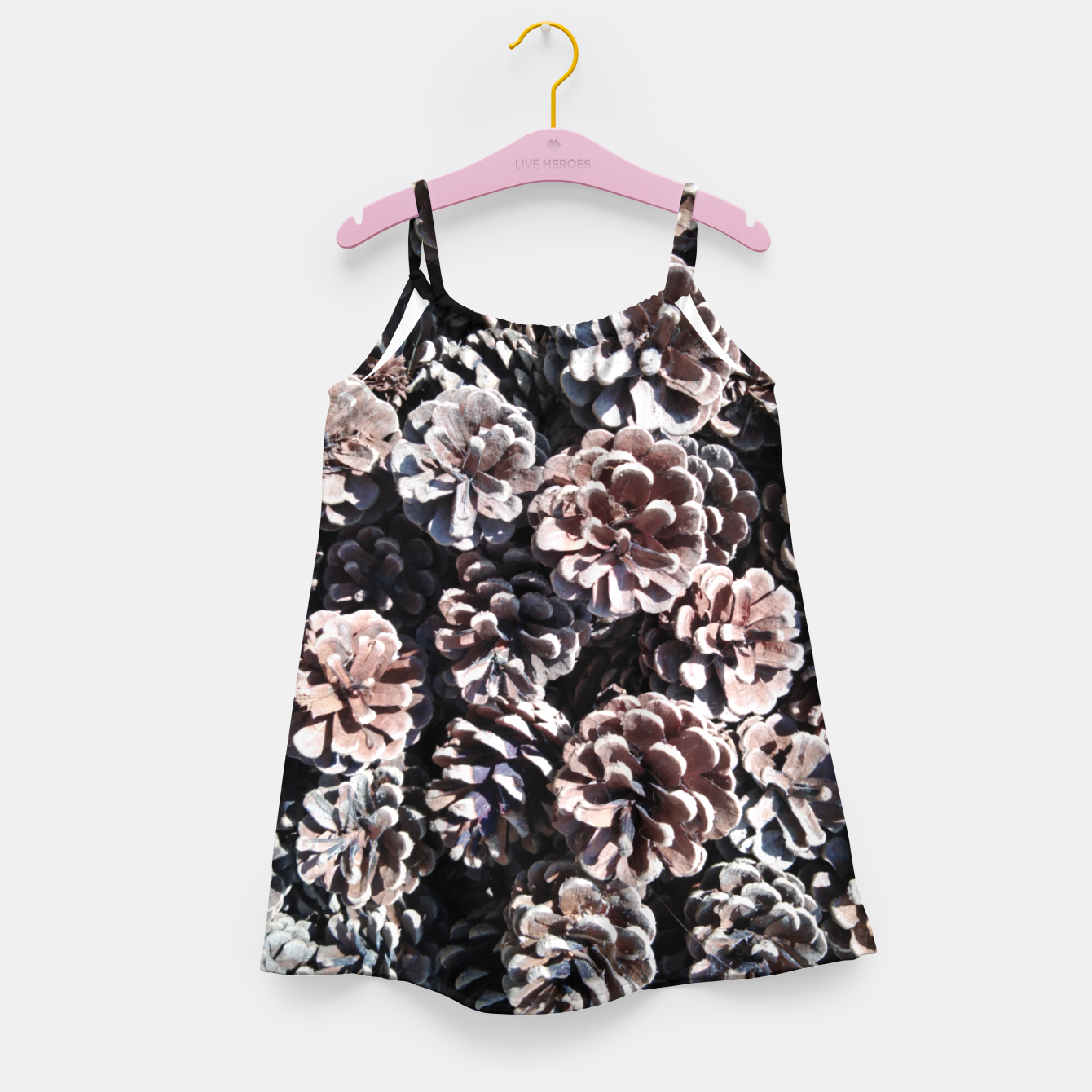 Image of Pine cones Girl's dress - Live Heroes