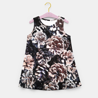Pine cones Girl's summer dress thumbnail image