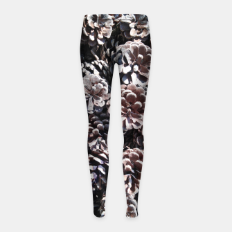 Thumbnail image of Pine cones Girl's leggings, Live Heroes