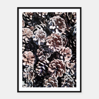 Thumbnail image of Pine cones Framed poster, Live Heroes