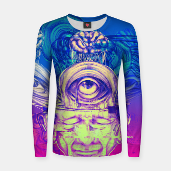Thumbnail image of Where is my mind glitch? Women sweater, Live Heroes