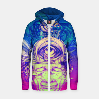 Thumbnail image of Where is my mind glitch? Zip up hoodie, Live Heroes
