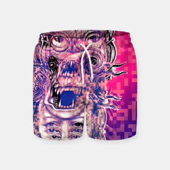 Thumbnail image of Vision Glitch Swim Shorts, Live Heroes