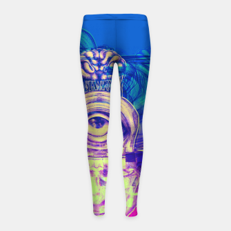 Thumbnail image of Where is my mind glitch? Girl's leggings, Live Heroes