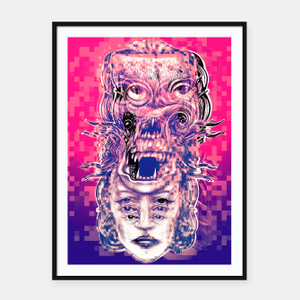 Thumbnail image of Vision Glitch Framed poster, Live Heroes