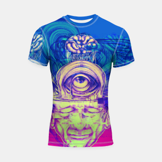 Thumbnail image of Where is my mind glitch? Shortsleeve rashguard, Live Heroes