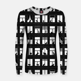 Thumbnail image of Feline Towers Cat Pattern Women sweater, Live Heroes