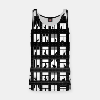 Thumbnail image of Feline Towers Cat Pattern Tank Top, Live Heroes