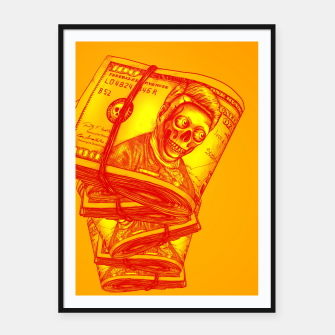 Thumbnail image of Dollars Framed poster, Live Heroes