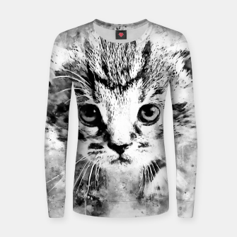 Thumbnail image of baby cat wsbw Women sweater, Live Heroes