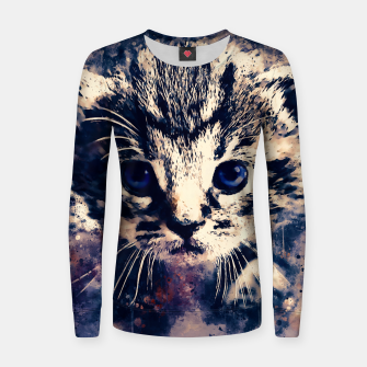 Thumbnail image of baby cat wsfn Women sweater, Live Heroes