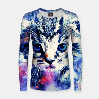 Thumbnail image of baby cat wscw Women sweater, Live Heroes