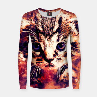Thumbnail image of baby cat wsls Women sweater, Live Heroes