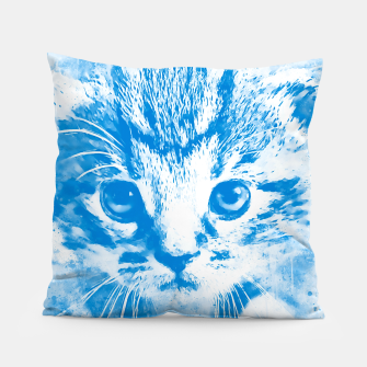 Thumbnail image of baby cat wswb Pillow, Live Heroes